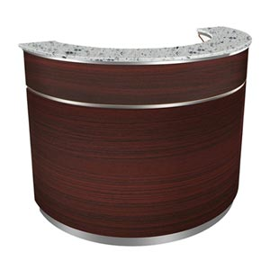 Round Reception Desk in Brown product image