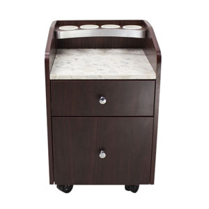 Salon Pedicure Trolley Cart in Brown product image