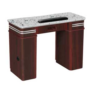 Single Manicure Table in Brown product image