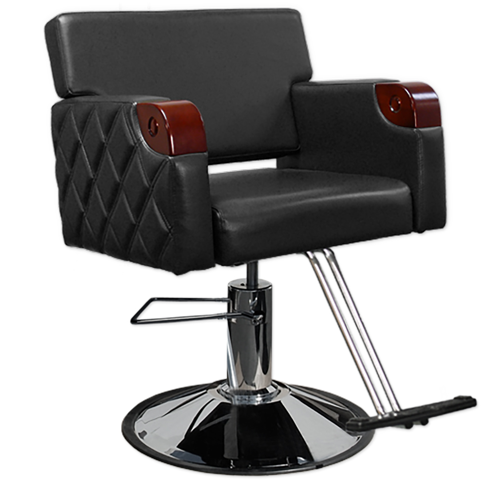Chelsea Quilted Styling Chair in Black alternative product image 1