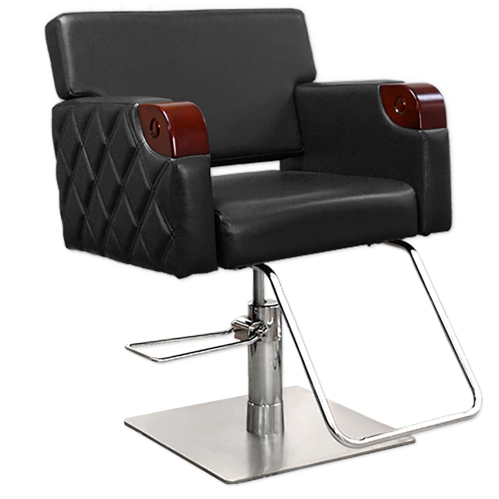 Chelsea Quilted Styling Chair in Black alternative product image 2