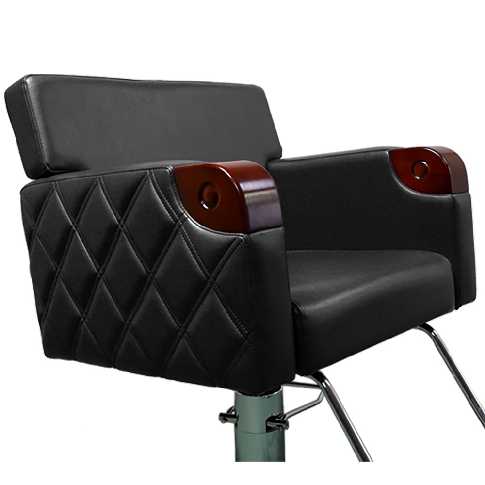 Chelsea Quilted Styling Chair in Black alternative product image 6