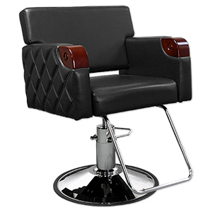Chelsea Quilted Styling Chair in Black product image