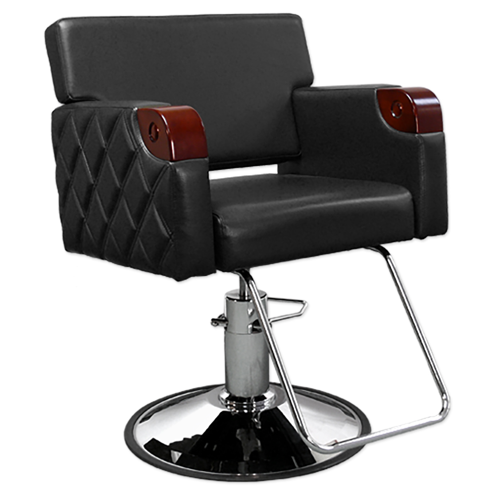 Quilted Styling Chair In Black Salon Chair