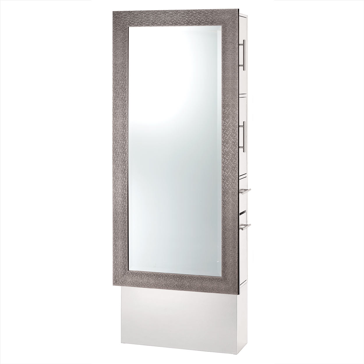 Diamond Framed Mirror Styling Station On Base alternative product image 3