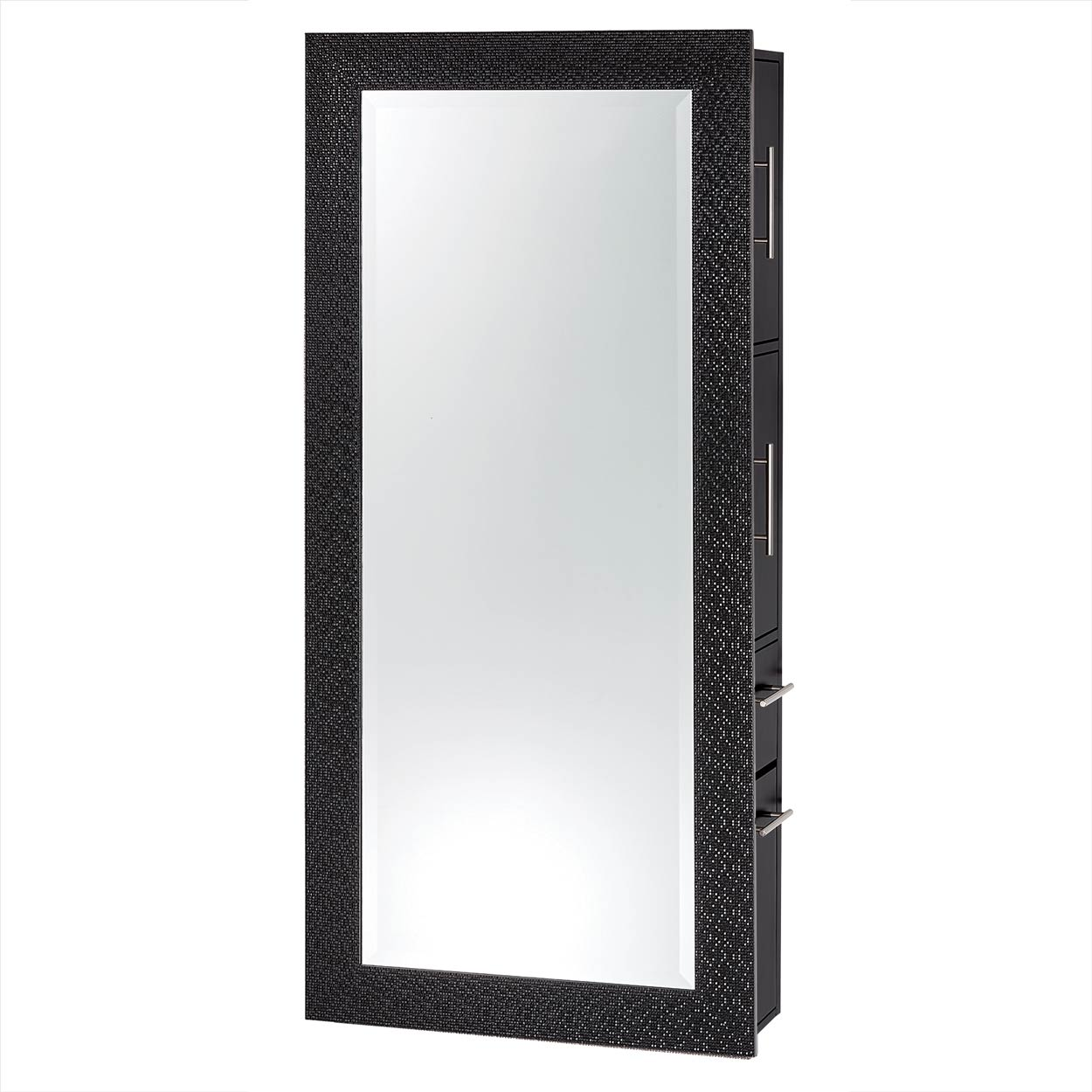 Diamond Framed Mirror Wall Hanging Styling Station  main product image
