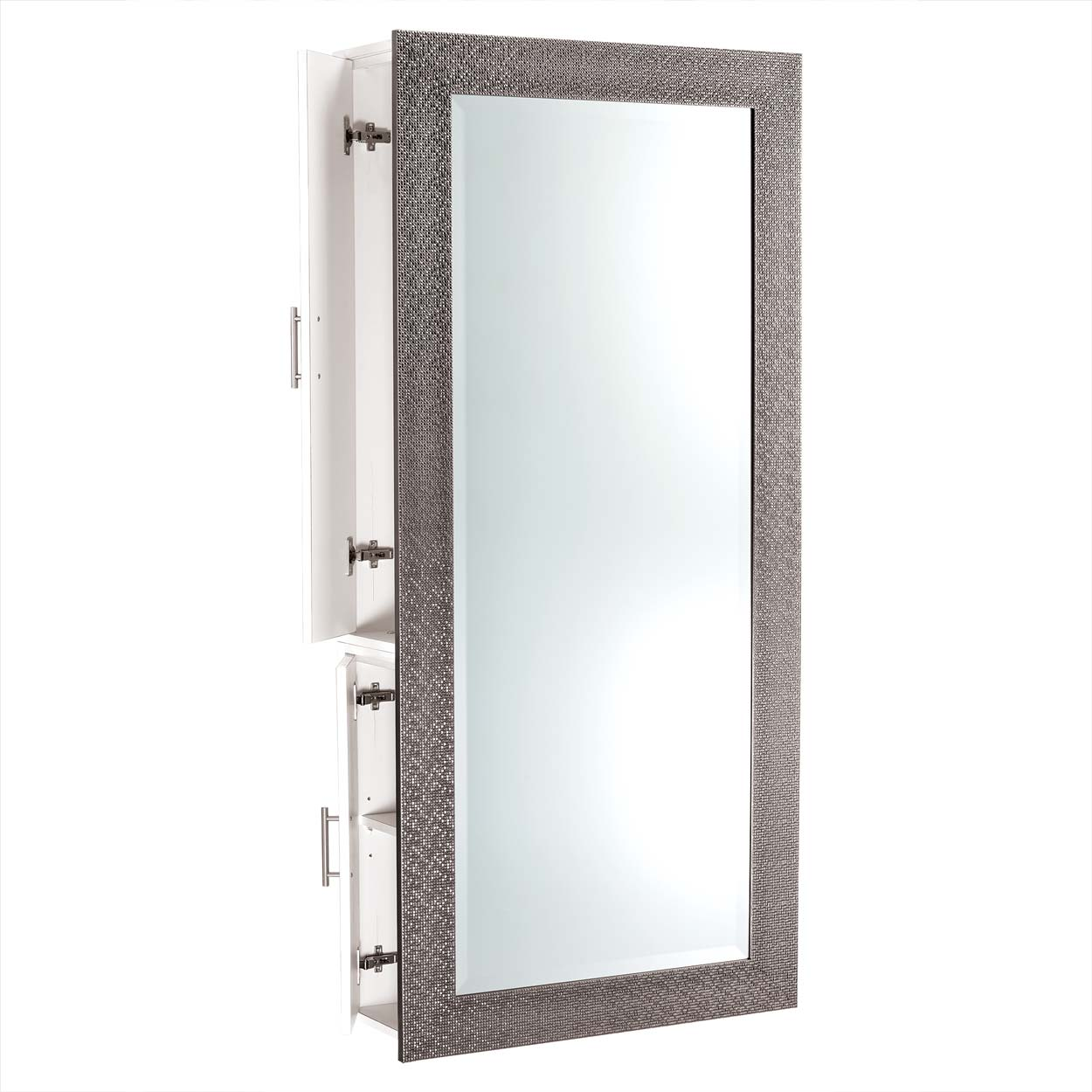Diamond Framed Mirror Wall Hanging Styling Station alternative product image 7