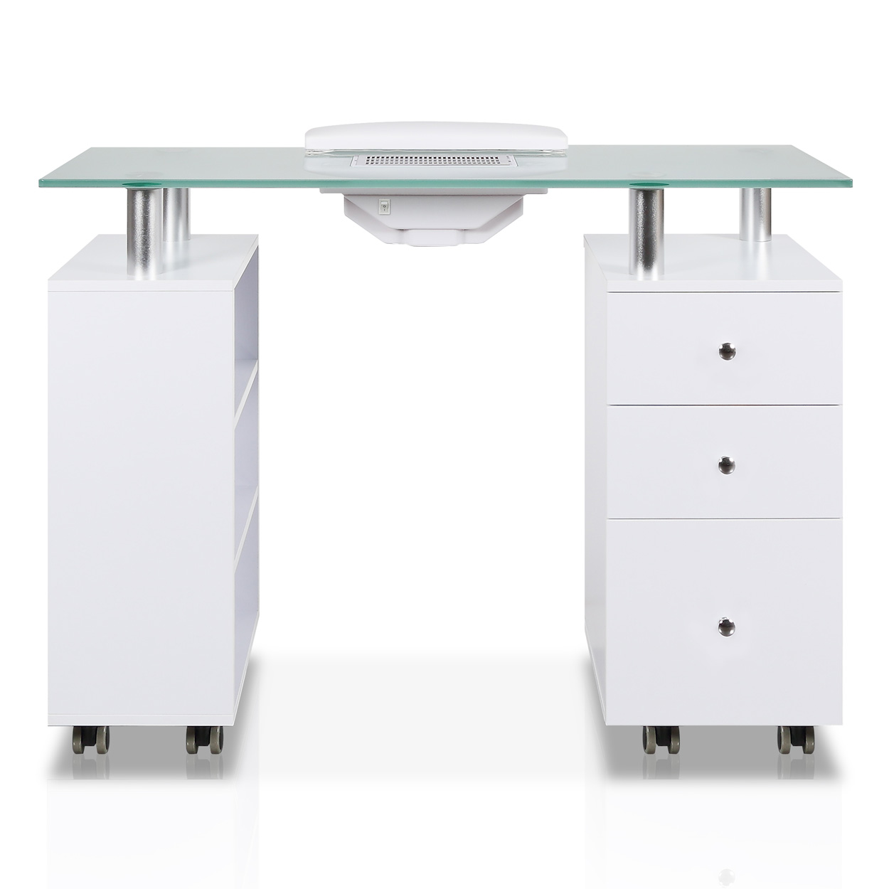 Glass Top Manicure Table with Fan alternative product image 1