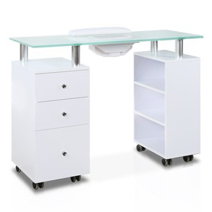 Glass Top Manicure Table with Fan product image