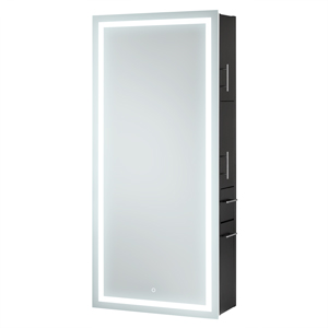 Wall Hanging Styling Station with LED Lighted Mirror product image