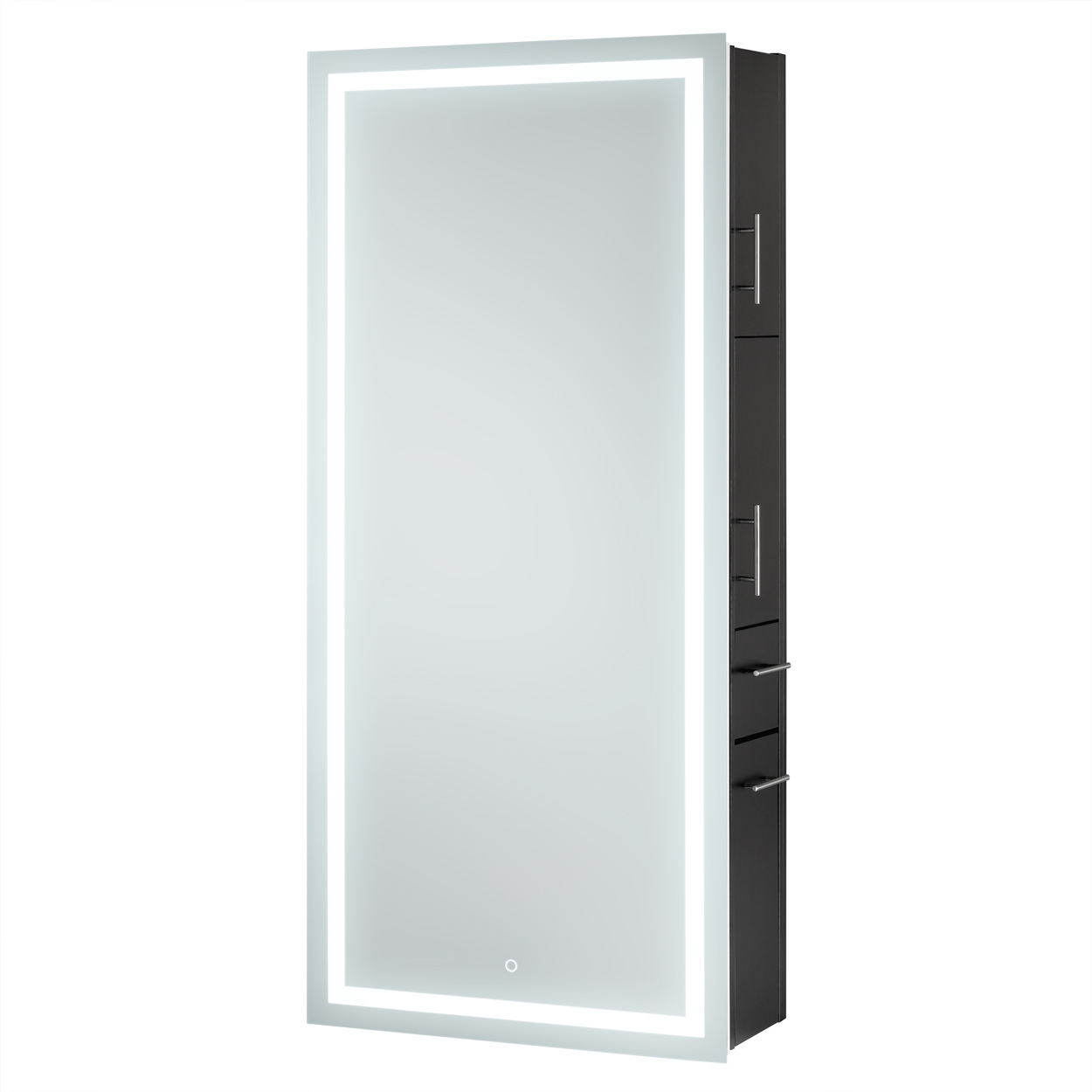 Pibbs Lumina Wall Hanging Styling Station with LED Lighted Mirror  main product image