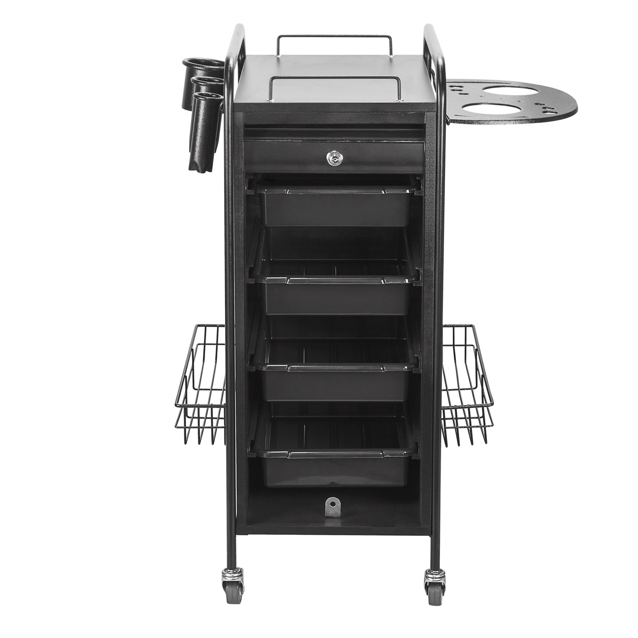 Hair Salon Metal Locking Trolley Cart with Appliance Holder alternative product image 5