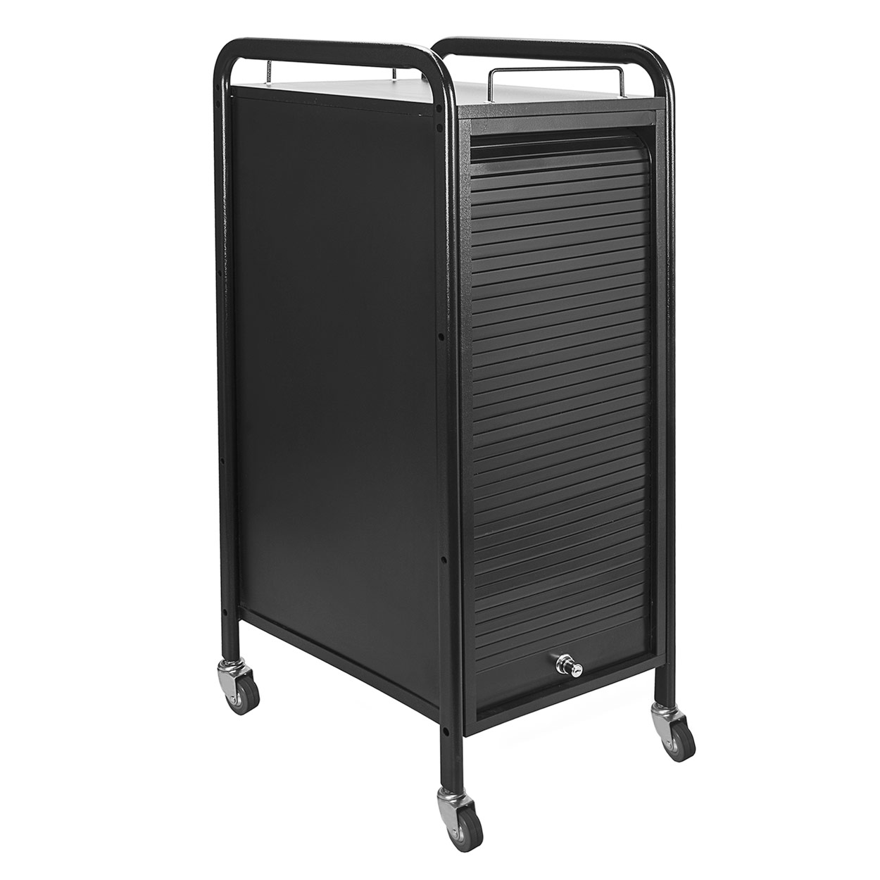 Hair Salon Metal Locking Trolley Cart with Appliance Holder alternative product image 4