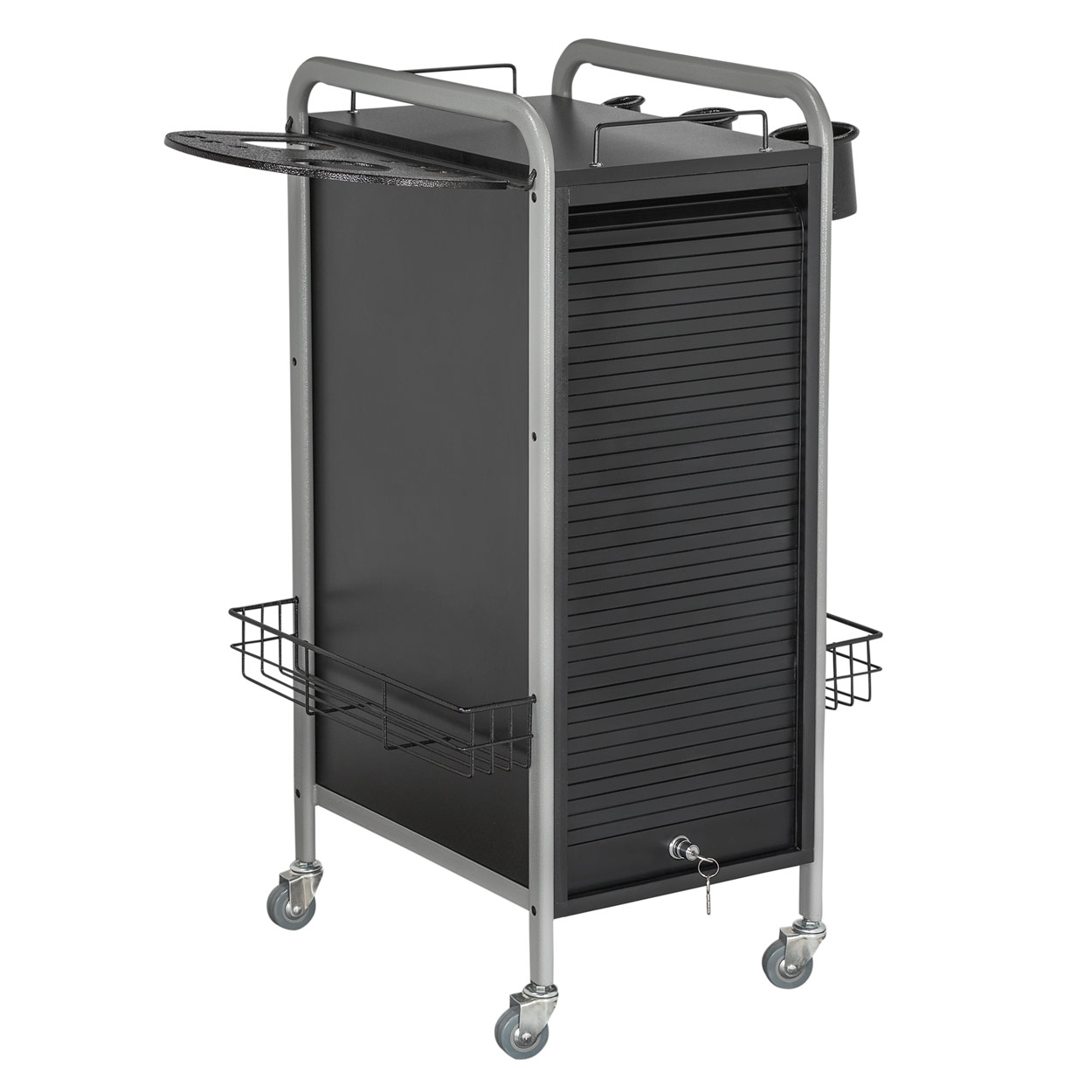 Salone Tray Surreal And Unconventional: Hair Salon Metal Locking Trolley Cart
