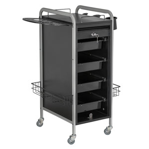 Hair Salon Metal Locking Trolley Cart with Appliance Holder product image