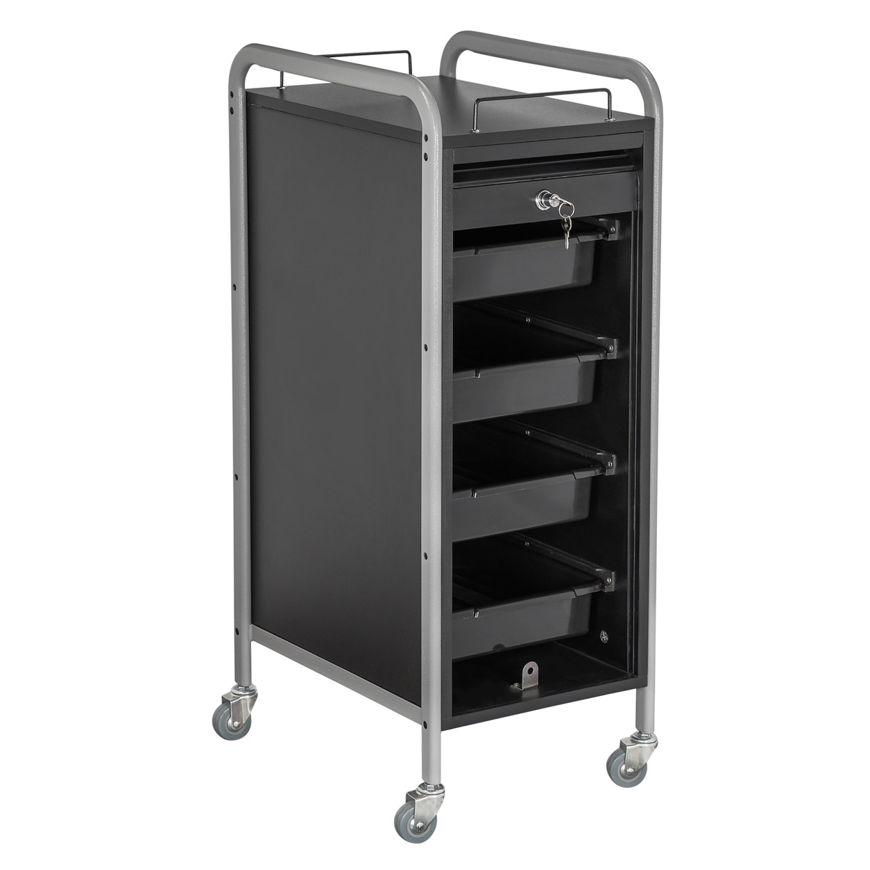 Hair Salon Metal Locking Trolley Cart with Appliance Holder alternative product image 1