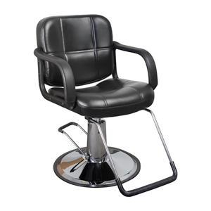 Black Austin Quilted Hair Salon Styling Chair product image