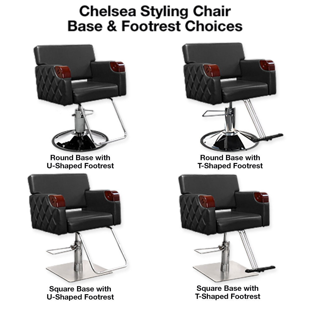 Chelsea Quilted Styling Chair in Black alternative product image 8