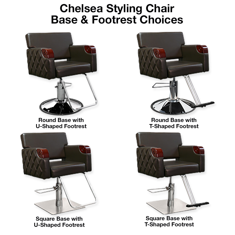 Chelsea Quilted Styling Chair in Brown alternative product image 8