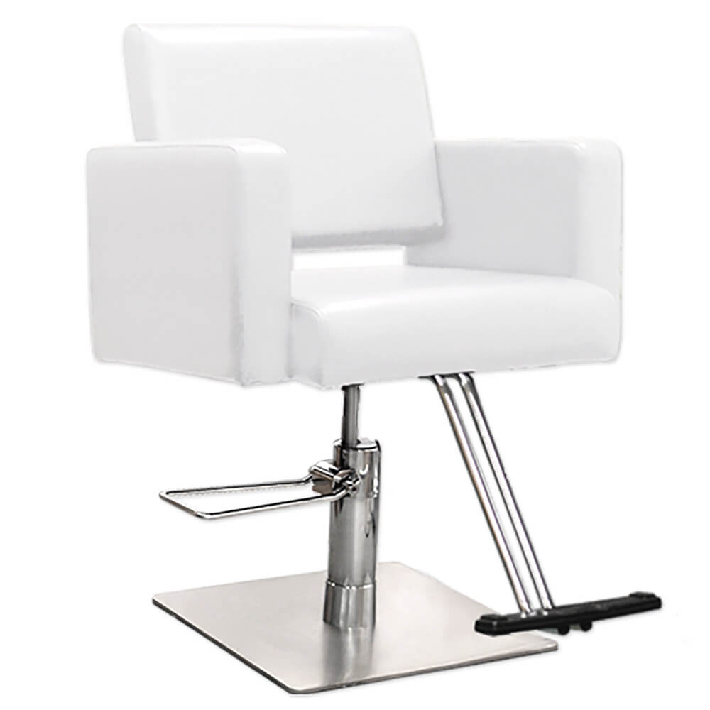 Havana Hair Salon Styling Chair in White alternative product image 2