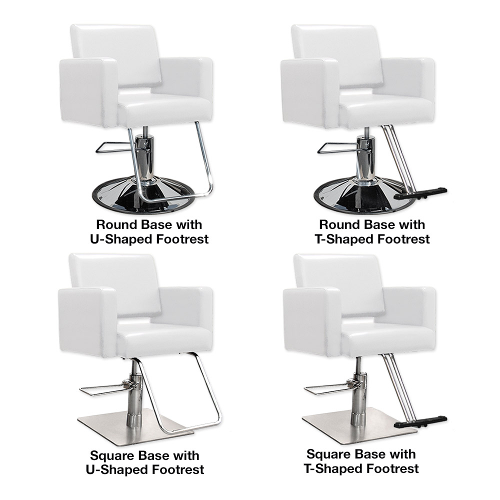 Havana Hair Salon Styling Chair in White alternative product image 4