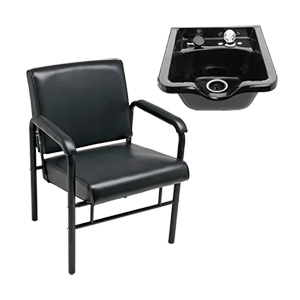 Auto Recline Chair & Shampoo Bowl Package product image