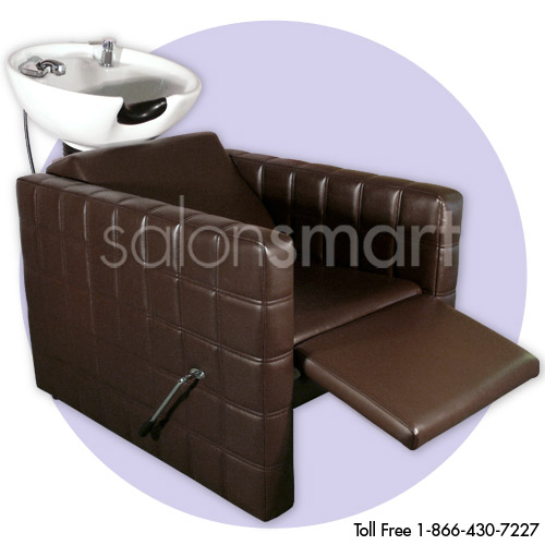 Chelsea Quilted  Shampoo Unit in Brown alternative product image 3