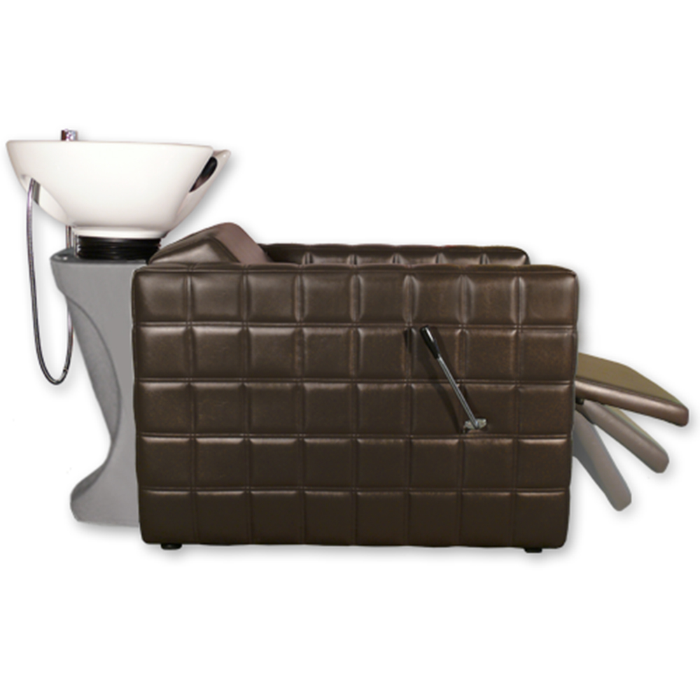 Chelsea Quilted  Shampoo Unit in Brown  main product image