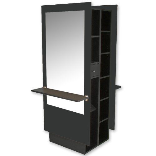 Charlotte Mirrored Double Styling Station with Storage alternative product image 1
