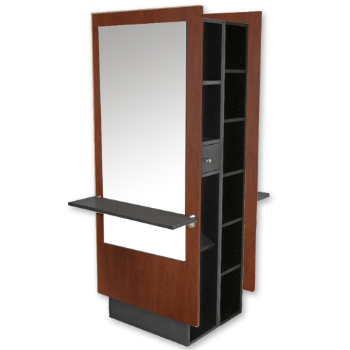 Charlotte Mirrored Double Styling Station with Storage alternative product image 3
