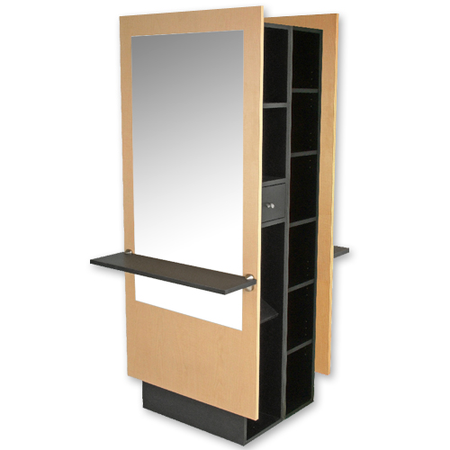 Charlotte Mirrored Double Styling Station with Storage alternative product image 2