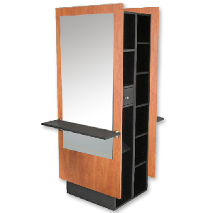 Charlotte Mirrored Double Styling Station with Storage product image