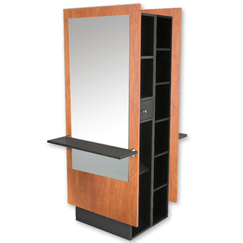 Charlotte Mirrored Double Styling Station with Storage  main product image