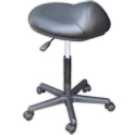Black Saddle Stool (21-26 in.) product image