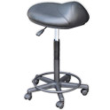 Black Saddle Stool (27-32 in.) product image