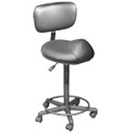 Black Stool w/Back (27-32 in.) product image