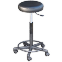 Height Adjustable Black Stool (25-30 in.) product image