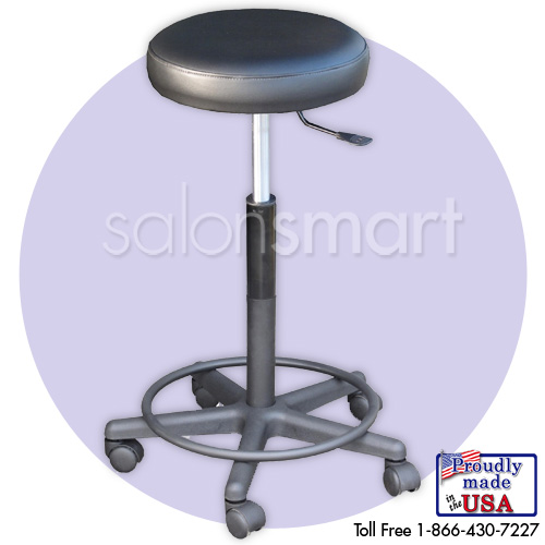 Height Adjustable Black Stool (25-30 in.)  main product image