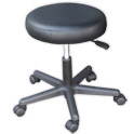 Black Round Stool (16.5-21.5 in.) product image
