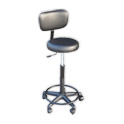 Adjustable Black Stool with Backrest (25-30 in.) product image