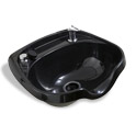 Jeffco Black Oval Plastic Shampoo Bowl with Vacuum Breaker Kit product image