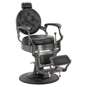 Wexford Vintage Barber Chair - Gun Metal Finish product image