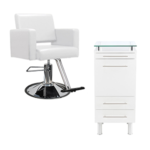 White Hair Salon Stations & Chairs category image