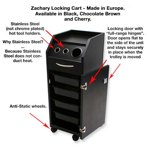 Zachary Locking Cart with Tool Holders alternative product image 9