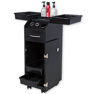 Aaron Salon Trolley Cart with Lock and Tool Holders product image