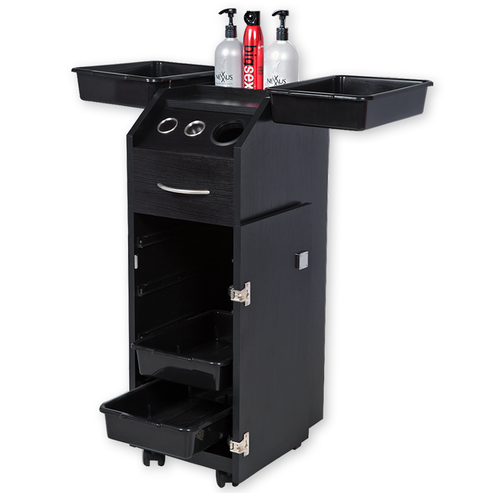 Aaron Salon Trolley Cart with Lock and Tool Holders  main product image