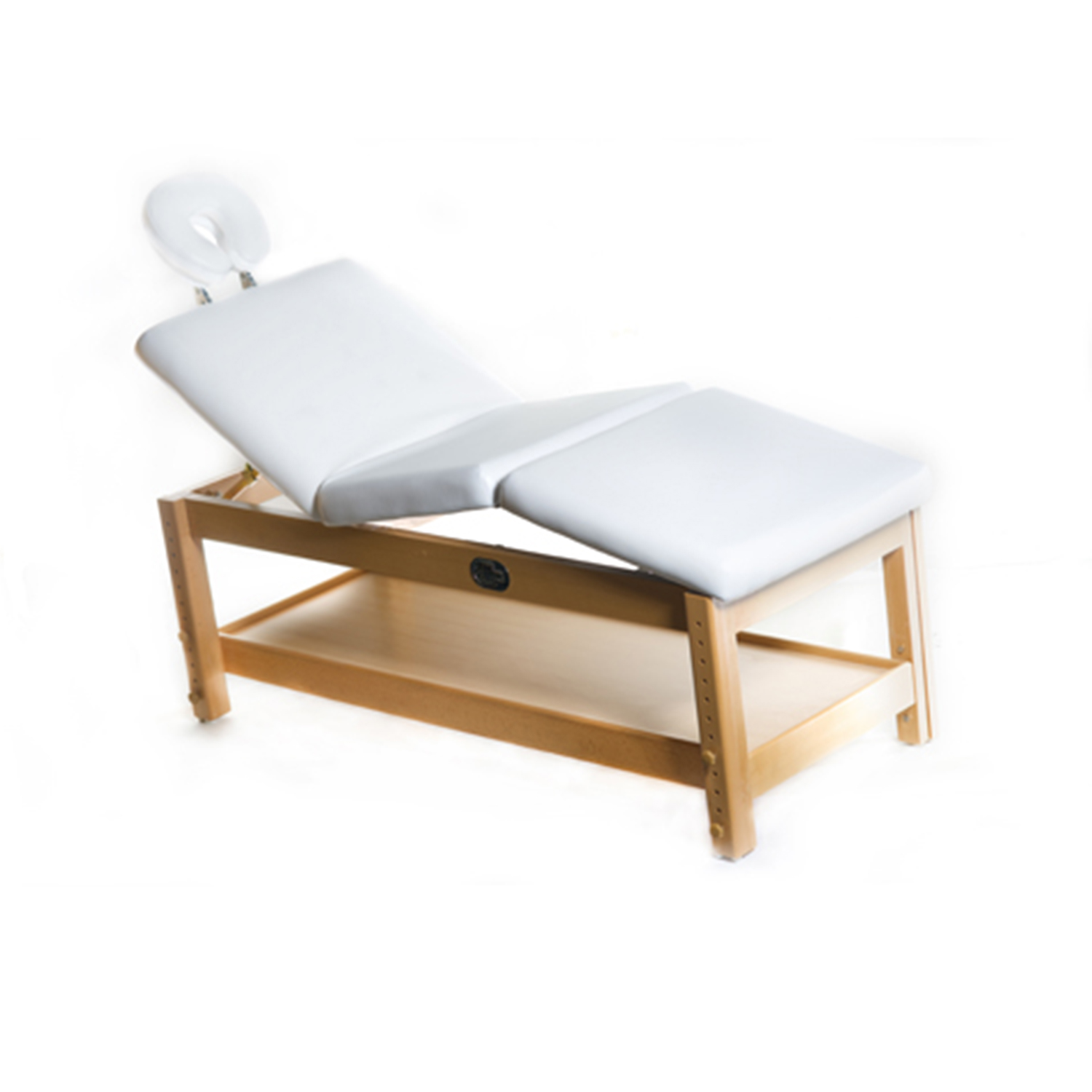Adjustable Massage / Facial Bed with White Cushions  main product image