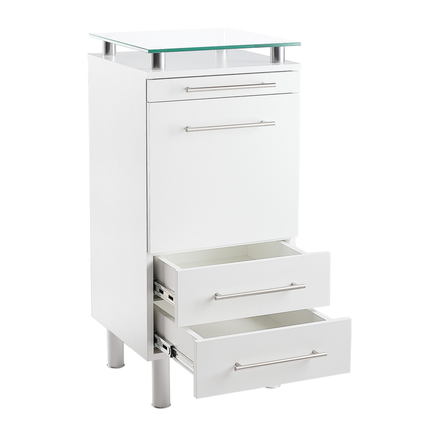 White Amy Salon Styling Station with Tilt-Out Tool Drawer alternative product image 3