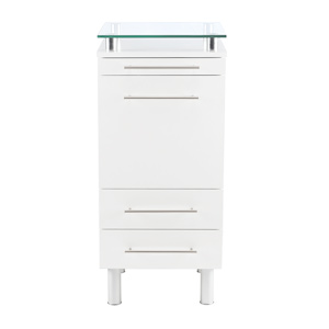 White Amy Salon Styling Station with Tilt-Out Tool Drawer product image