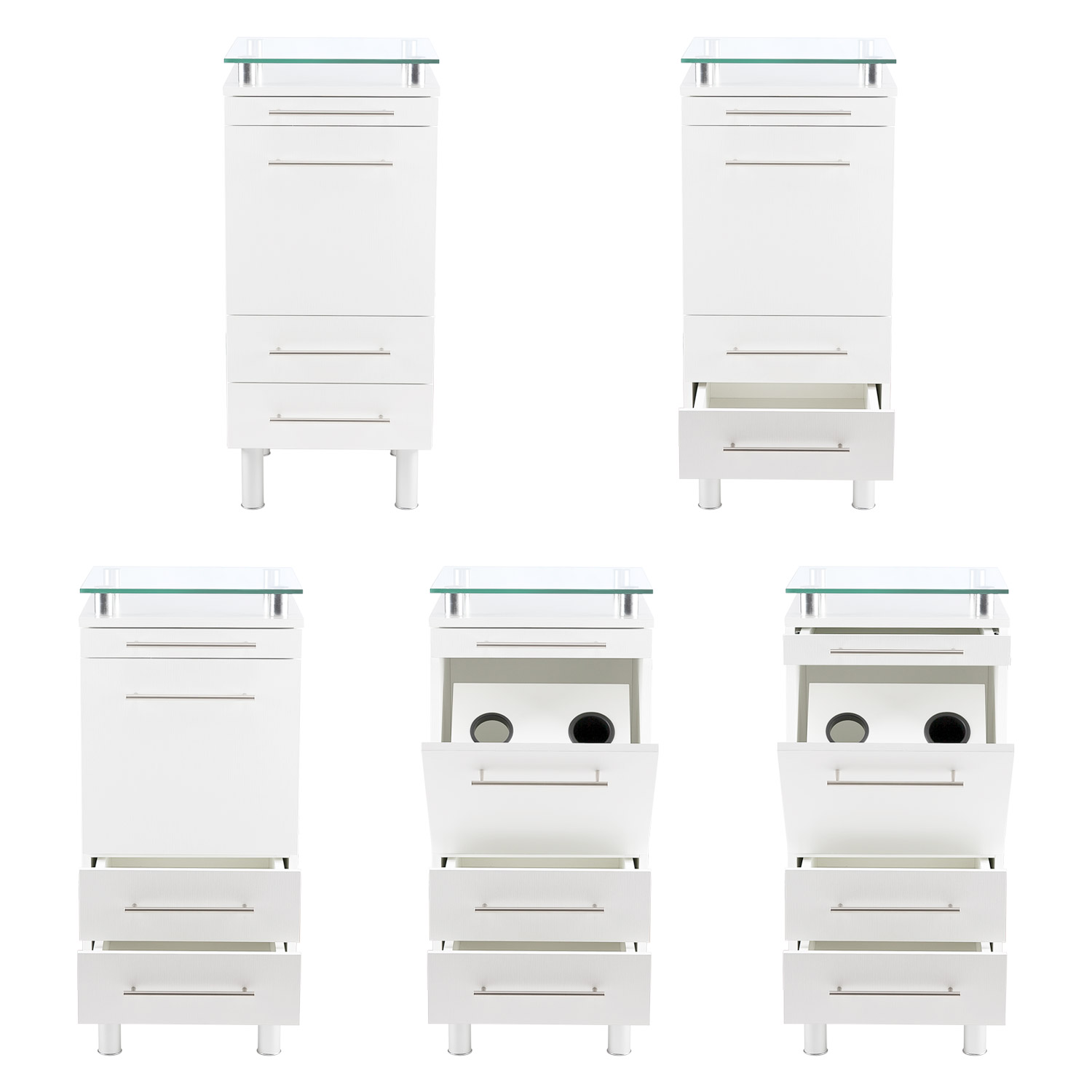 White Amy Salon Styling Station with Tilt-Out Tool Drawer alternative product image 1